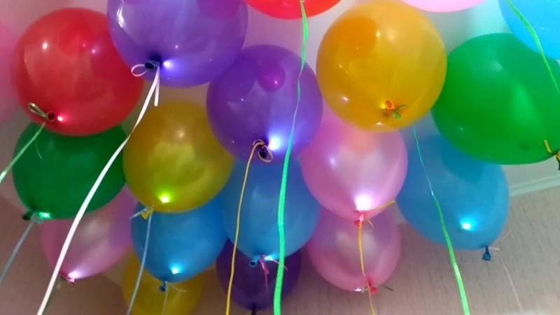 Светящиеся шары. При свете