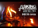 Asking Alexandria - Into the fire. Drum Cover by @Elina_yo_