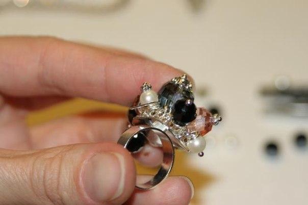 Кольца из бусин фото