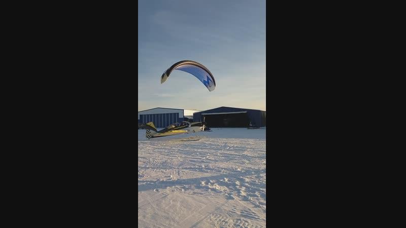 Посадка паралета зима