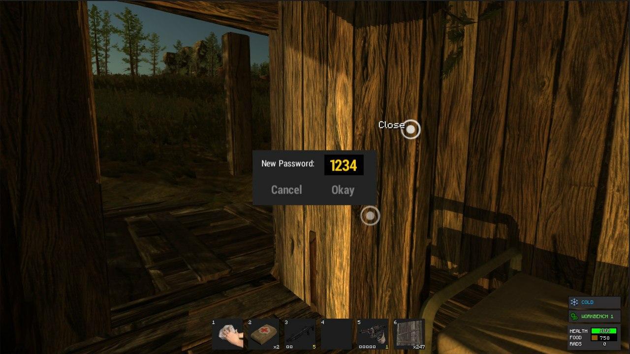 Общая дверь в игре Rust