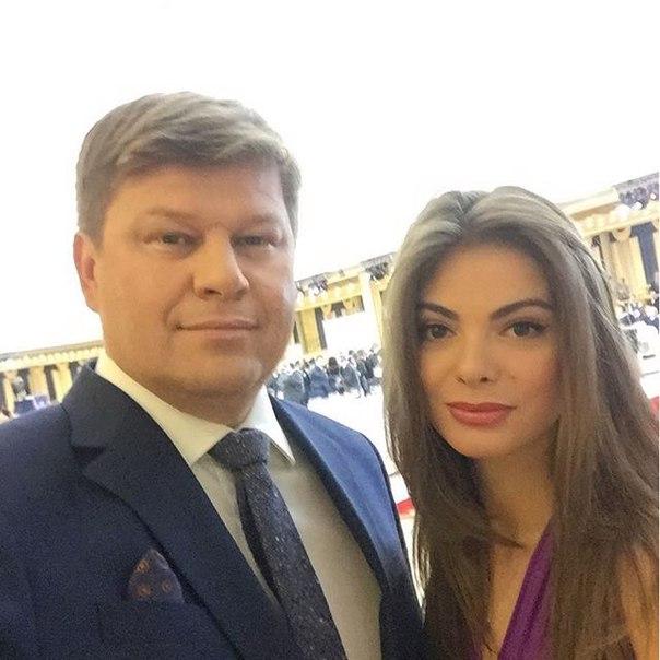 Дмитрий Губерниев и госпожа Тартакова на кремлевском приеме в честь паралимпийцев