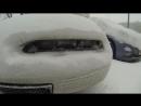 Превращение сугроба в машину
