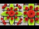 DIY. Simple Home Decor. Wall Decoration. Hanging Flower. цветы из бумаги. Paper Craft Ideas 39