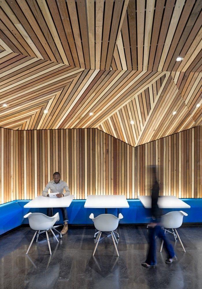 Геометрия в интерьере, дизайн интерьера, дерево в интерьере.