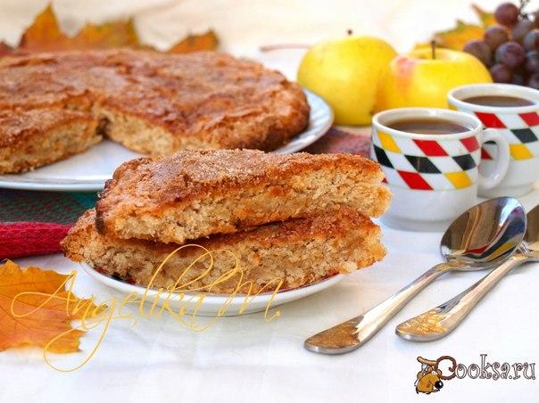 Английский яблочный пирог Предлагаю испечь к чаю замечательный яблочный пирог. Такой пирог готовится совсем просто и его можно подать для семейного праздника.