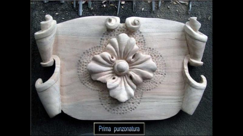 Esercizio di intaglio e scultura 005- cartiglio più elemento decorativo.wmv