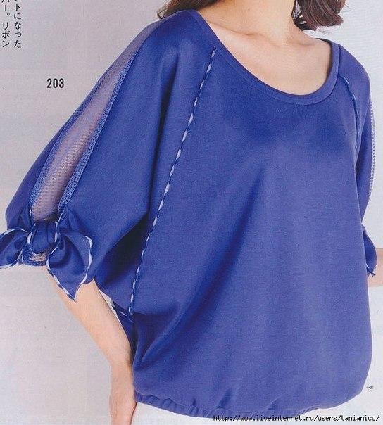Блузка трикотаж своими руками