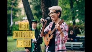 Darya Pikhnova - rolling in the deep (Adele ukulele cover)