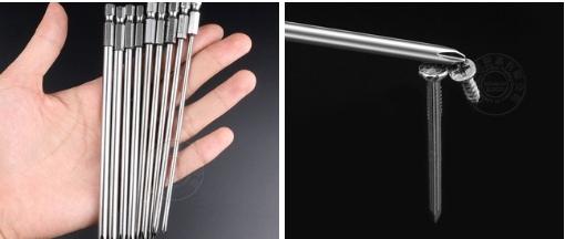 Удлиннные биты крестовые отвртки для шуруповрта 150 мм