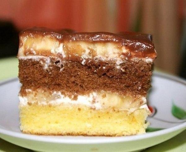 """Торт """"Сметанник"""" для теста масло сливочное или маргарин -"""