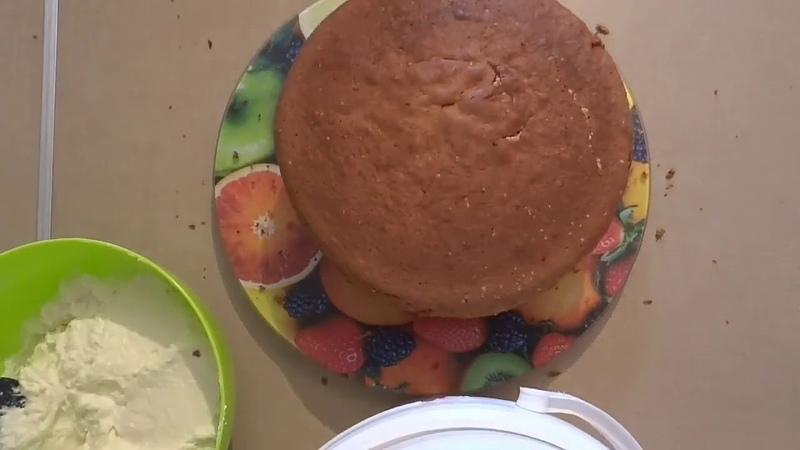 Бисквит на перепелиных яйцах 💠 творожный крем 💠 шоколадный ганаш 💠 оформление торта для мужчины