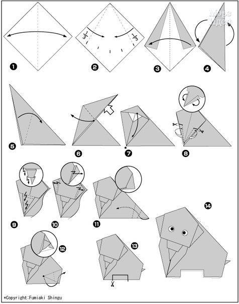 Простые оригами, детям