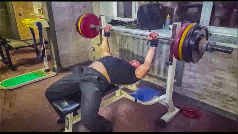 Жим лёжа 167.5 кг 09.02.2019 года (Руслан Виеру).
