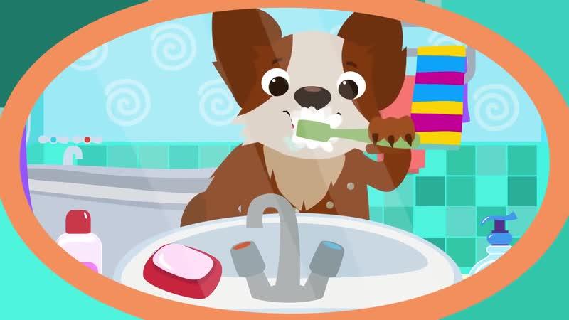 ЗУБКИ песня-мультфильм про зубную щетку и пасту