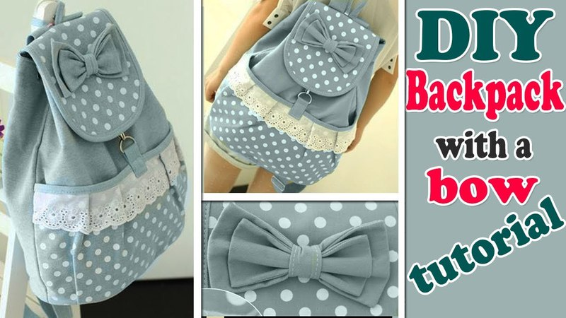 DIY BACKPACK TUTORIAL • CUTE WITH POCKET BOW