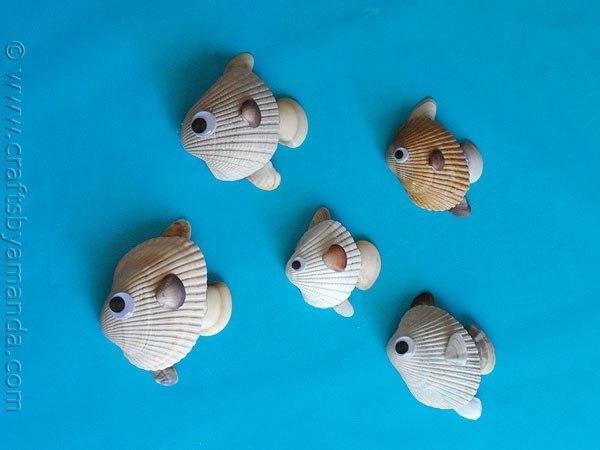 Рыбка из ракушек своими руками 52