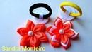 Flor de Fita de Cetim Flor em camadas Sandra Monteiro