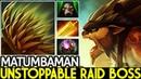 Matumbaman [Bristleback] Unstoppable Raid Boss Carry Late Game 7.20 Dota 2