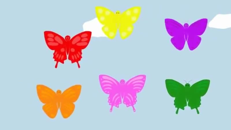 The Butterfly Colours Song 6 цветов