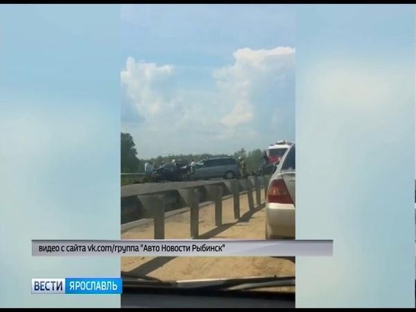 На Шекснинском шоссе в Рыбинске столкнулись сразу три автомобиля