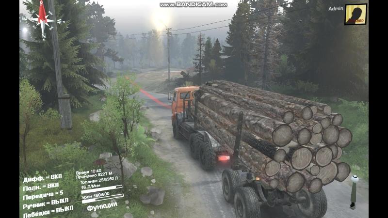 SpinTires везу дрова