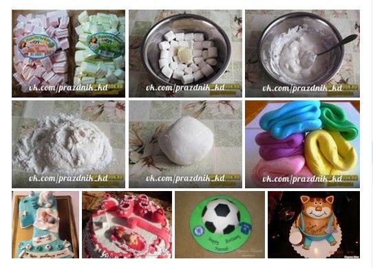 Мастика из зефира рецепт в домашних