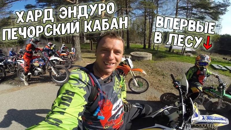 Хард эндуро Печорский Кабан. Мальчик 8 лет впервые в лесу на пите. Ян разорвал новый KTM на 2 части