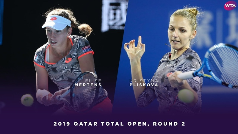 Elise Mertens vs Kristyna Pliskova 2019 Qatar Total Open Second Round WTA Highlights