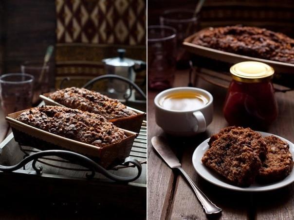 Шоколадно-банановый кекс с похрустывающей сахарной корочкой!