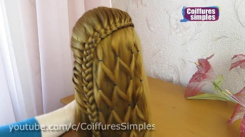 Coiffures simples et belles 🌷 facile à faire cheveux longs_mi longs