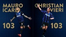 MAURO ICARDI CHRISTIAN VIERI NATURAL BORN SCORERS 103 Serie A goals with Inter ⚽⚫🔵⚽
