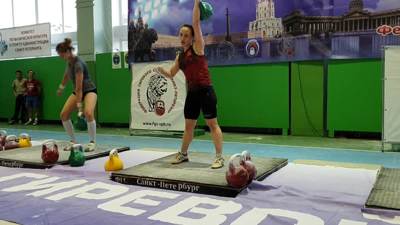 Чемпионат Санкт-Петербурга, Бенидзе Елизавета, рывок гири 24 кг 162 раза.