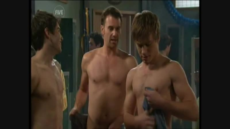 Neighbours - Dingoes Football team in the changing room