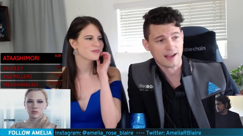Bryan Dechart plays RED CONNOR Stream 5 Detroit Become Human with Amelia Rose Blaire Traci
