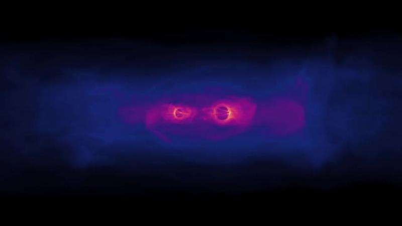 Модель взаимодействия черных дыр