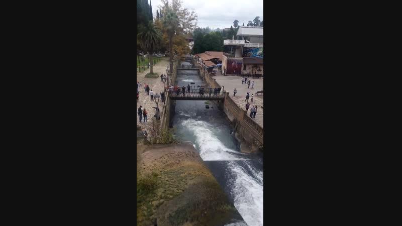 Абхазия. Водопад в Новом Афоне. Вид сверху. Сент 2018