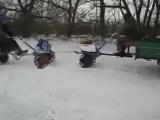 Мотоблок зимой