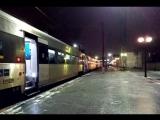 HRCS2-010прибывает на станцию Полтава-Киевская поезд 726 Киев-Харьков и отправление поезда 016 Харьков-Рахов