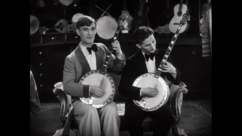 Eddie Peabody And Jimmy Maisel Entertain On Their Banjos
