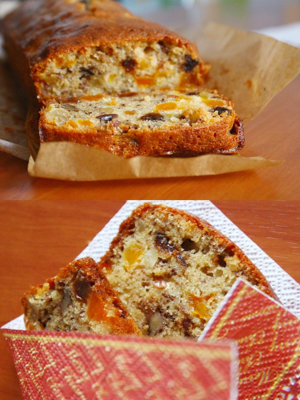 бисквит с сухофруктами рецепт
