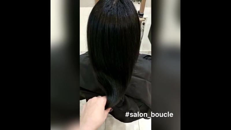 Окраска длинных волос в салоне Boucle