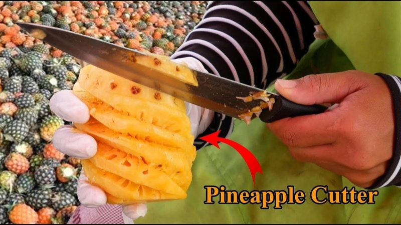 How to fresh pineapple cutter into chunks I like the soft sweet flesh, enjoy cut open a pineapple.