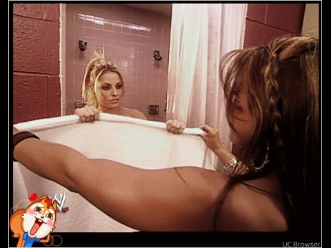 Trish Stratus Bathroom Shower Scene With Mickie James