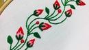 Hand Embroidery borderline embroidery design by nakshi design art