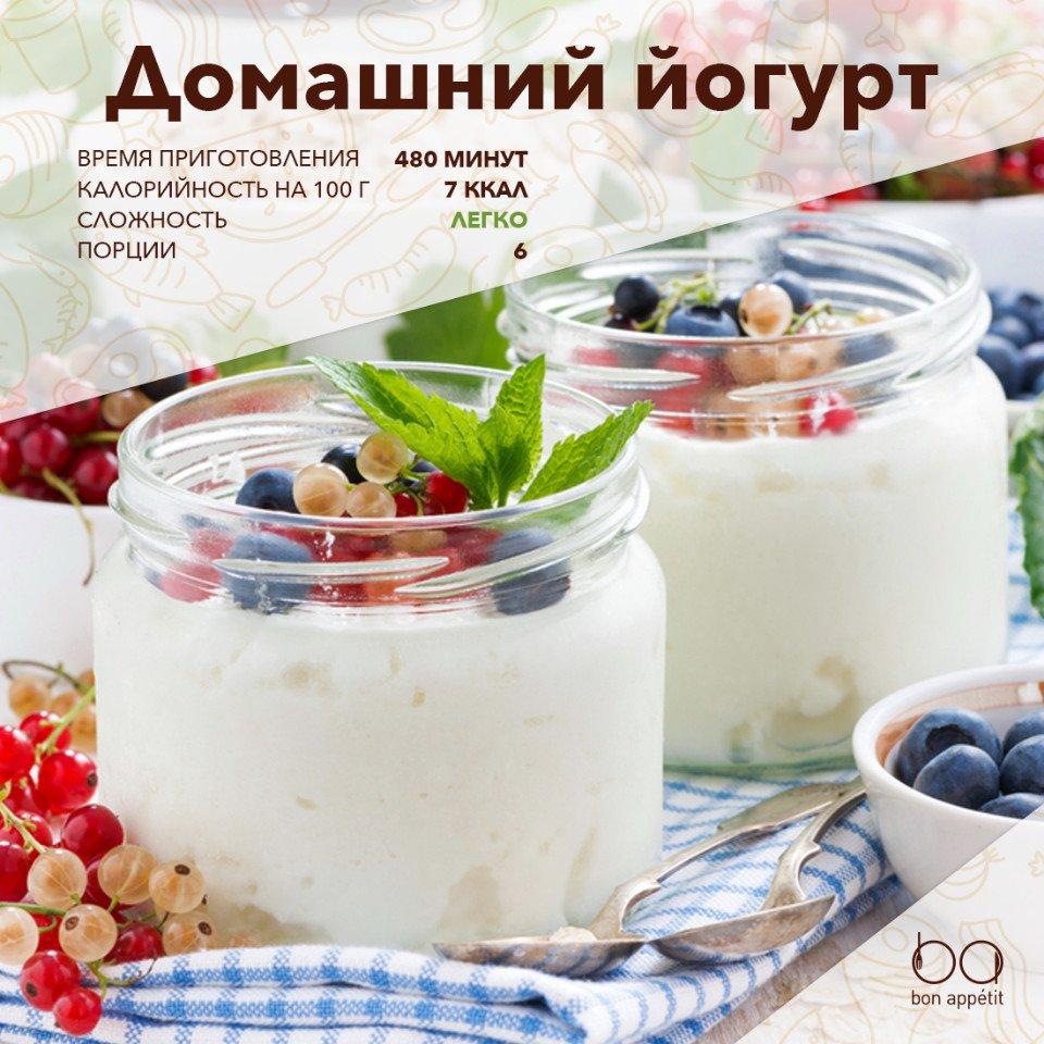 Рецепт домашнего йогурта