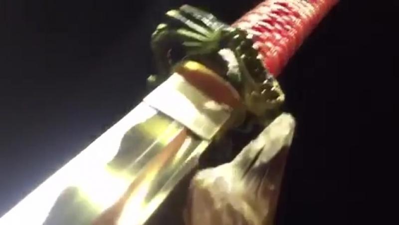 Wonderful Golden Blade High Toughness Manganese Steel Very Sharp Japanese Samurai Sword Katana Full Tang Battle Ready