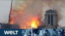 KATASTROPHE IN PARIS Kathedrale von Notre Dame brennt lichterloh