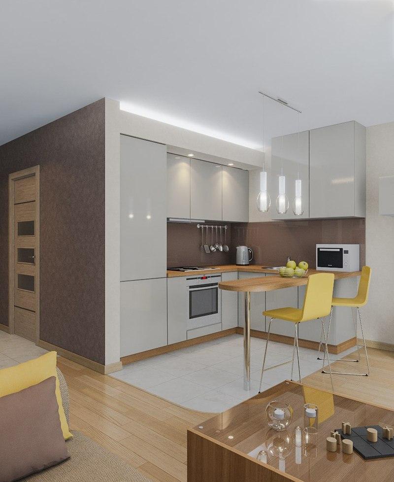 Идея дизайна квартиры-студии