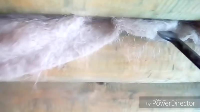 Хитрый способ конопатки сруба бани или дома. Автор - Ютуб-канал АКСамоделкин